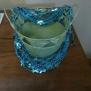 Accessories - Teal ribbon necklace
